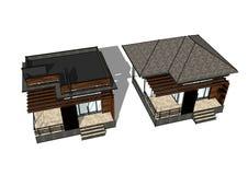 белизна изолированная домом имущество принципиальной схемы реальное 3d Стоковое фото RF