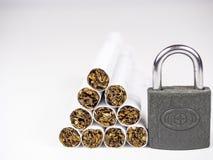 белизна изолированная предпосылкой для некурящих Стоковое Фото