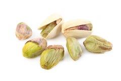 белизна изолированная предпосылкой nuts Стоковые Изображения RF