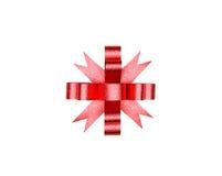 белизна изолированная смычком красная Стоковое Фото