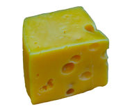 белизна изолированная сыром Стоковая Фотография