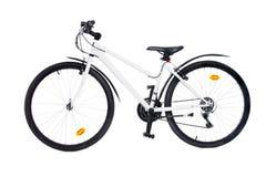 белизна изолированная bike Стоковые Изображения RF