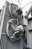 белизна изолята охлаждающего вентилятора предпосылки Стоковое Изображение