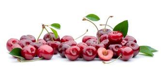 белизна изоляции вишни сладостная Стоковые Изображения RF