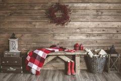 белизна изоляции декора рождества Стоковые Изображения