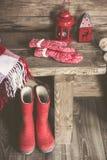 белизна изоляции декора рождества Стоковое Изображение RF