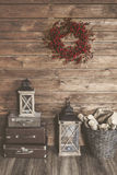 белизна изоляции декора рождества Стоковое Изображение