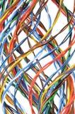 белизна изоляции компьютера кабеля Стоковая Фотография RF