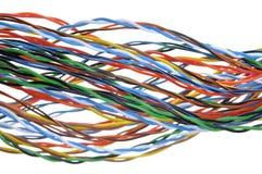 белизна изоляции компьютера кабеля Стоковое Изображение RF