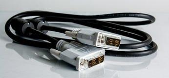 белизна изоляции компьютера кабеля Стоковые Фото