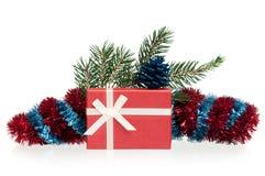белизна изоляции подарков рождества Стоковая Фотография