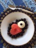 белизна изоляции плодоовощ десерта Стоковые Изображения