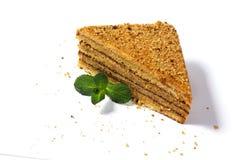белизна изоляции dof торта предпосылки отмелая Стоковая Фотография RF