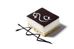 белизна изоляции dof торта предпосылки отмелая Стоковое Фото