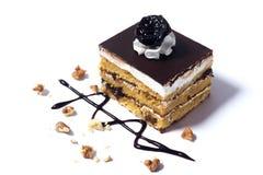 белизна изоляции dof торта предпосылки отмелая Стоковое Изображение
