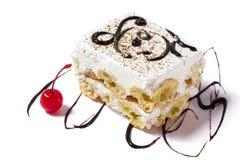 белизна изоляции dof торта предпосылки отмелая Стоковые Изображения RF