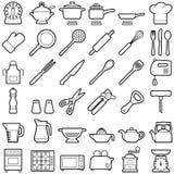 белизна инструмента кухни предпосылки изолированная иллюстрацией Стоковая Фотография RF