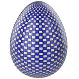 Белизна и синь пасхального яйца Стоковая Фотография RF