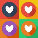 белизна иллюстрации икон сердца предпосылки Плоский дизайн бесплатная иллюстрация