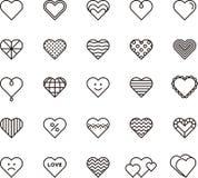 белизна иллюстрации икон сердца предпосылки Стоковая Фотография RF