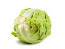 белизна капусты предпосылки изолированная зеленым цветом Стоковое фото RF