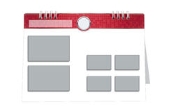 белизна календара предпосылки 3d изолированная изображением Иллюстрация штока