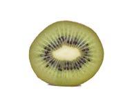белизна кивиа плодоовощ предпосылки изолированная половиной Стоковая Фотография RF