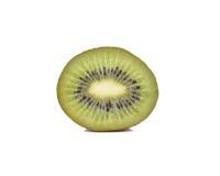 белизна кивиа плодоовощ предпосылки изолированная половиной Стоковая Фотография