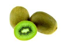 белизна кивиа свежих фруктов изолированная Стоковые Изображения