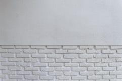 белизна кирпичной стены предпосылки Стоковая Фотография