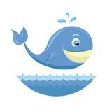 белизна кита шаржа предпосылки изолированная изображением Стоковые Фотографии RF