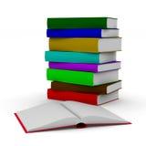 белизна книги предпосылки открытая Изолированная иллюстрация 3d Стоковые Изображения RF