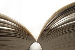 белизна книги предпосылки открытая Стоковая Фотография RF