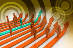белизна конкуренции изолированная принципиальной схемой Стоковая Фотография RF