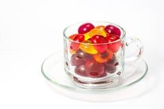 белизна конфеты предпосылки цветастая Стоковые Фото