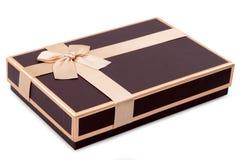 белизна коробки изолированная подарком Стоковые Фотографии RF