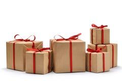 белизна коробки изолированная подарком Стоковые Изображения RF