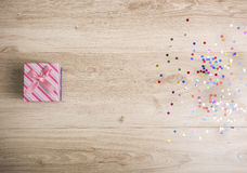 белизна коробки изолированная подарком Стоковая Фотография RF