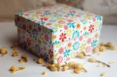 белизна коробки изолированная подарком Стоковое Фото