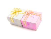 белизна коробки предпосылки изолированная подарком Стоковое Изображение RF