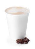 белизна кофейной чашки изолированная Стоковое Фото