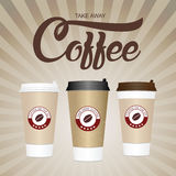 белизна кофейной чашки Примите отсутствующую бумагу/пластичное illustra вектора кофейной чашки Стоковое фото RF