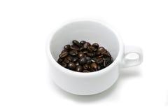 белизна кофейной чашки фасоли Стоковое фото RF