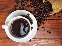 белизна кофейной чашки Стоковое Изображение