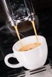 белизна кофе изолированная питьем Стоковые Фото