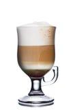 белизна кофе коктеила предпосылки изолированная мороженым Стоковое фото RF
