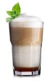 белизна кофе коктеила предпосылки изолированная мороженым Стоковое Изображение
