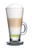 белизна кофе коктеила предпосылки изолированная мороженым Стоковое Изображение RF