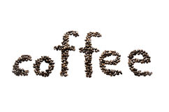 белизна кофе фасолей предпосылки Стоковая Фотография RF