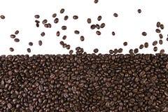 белизна кофе фасолей предпосылки Стоковое Изображение